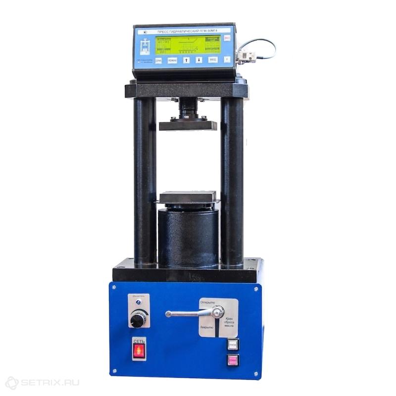 Испытательный гидравлический пресс ПГМ-100МГ4 на 100 кН