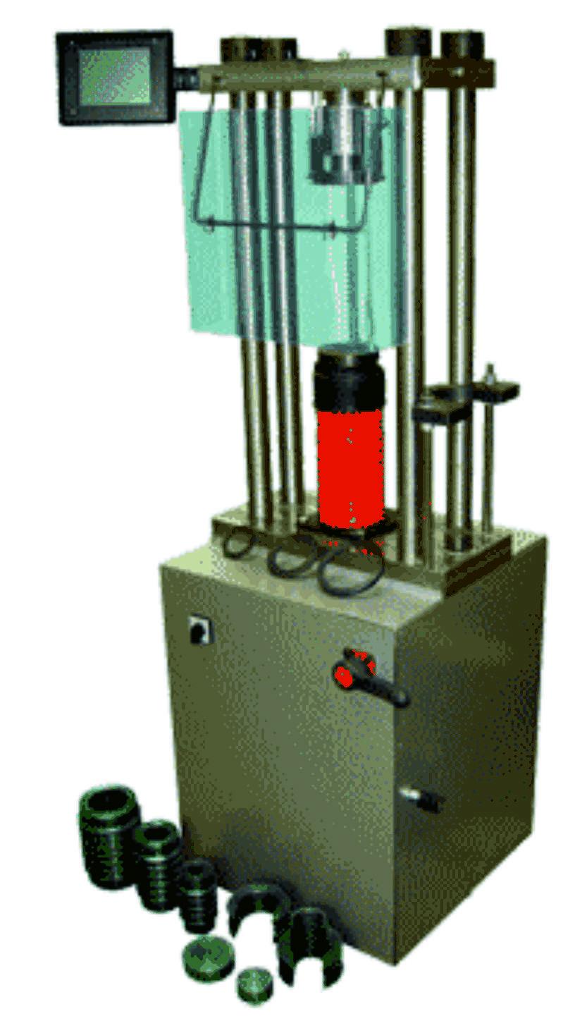 Машина для испытания на сжатие ИП-1А-500 АБ (500кН) (испытание бетона изготовление а/б образцов)