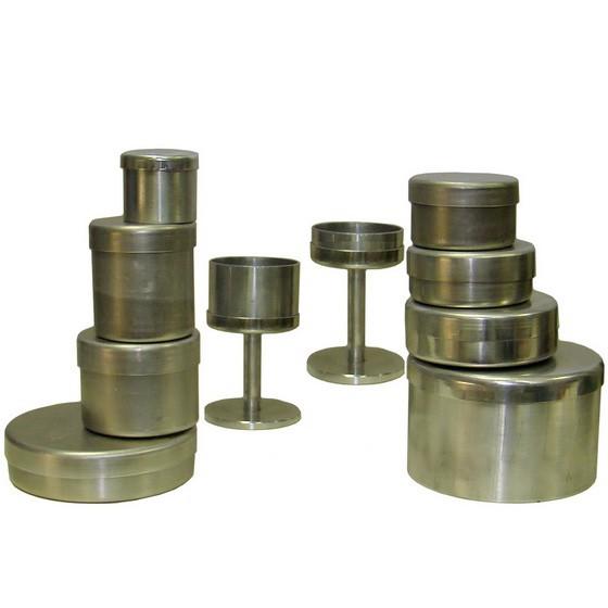 Бюксы алюминиевые для взвешивания h=37 d=50 ВС-1