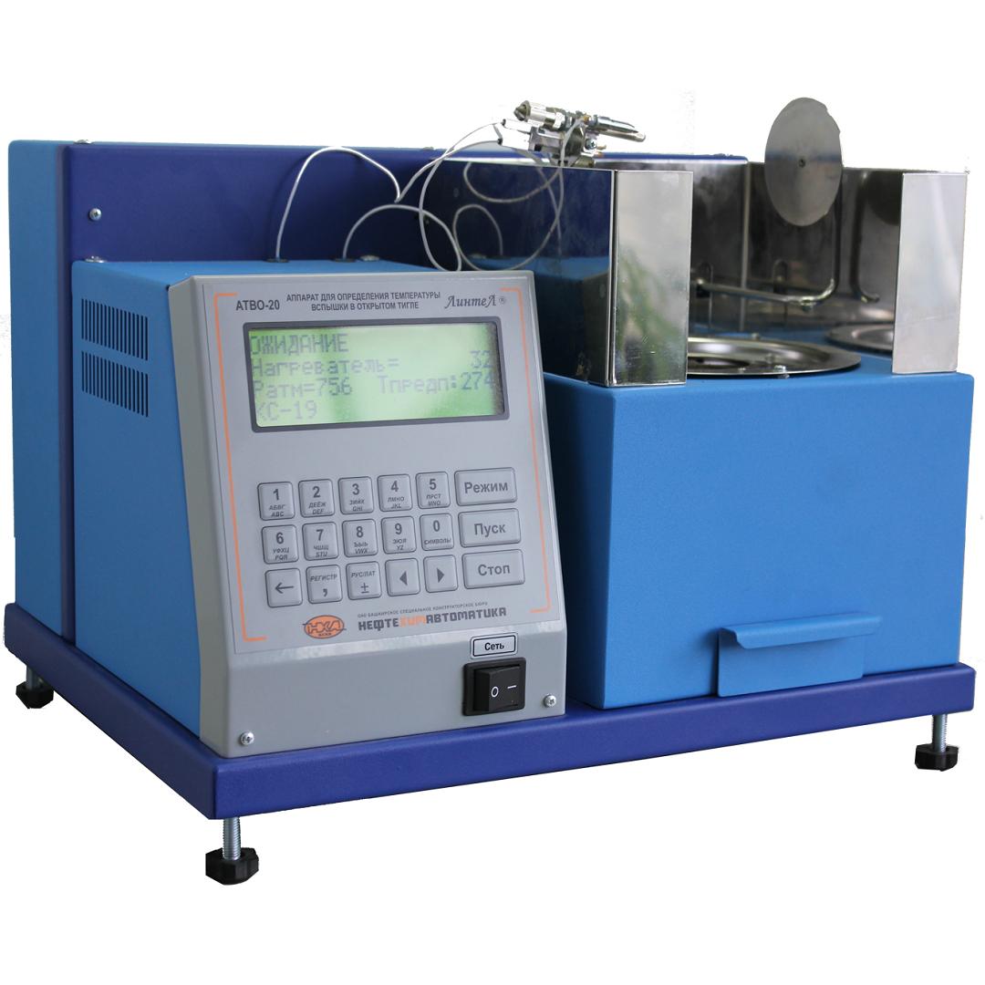 Аппаратавтоматический для определения температуры вспышки нефтепродуктов в открытом тигле  АТВО-20