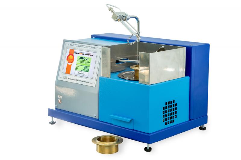 Аппаратавтоматический для определения температуры вспышки нефтепродуктов в открытом тиглес газовым поджигом  АТВО-21